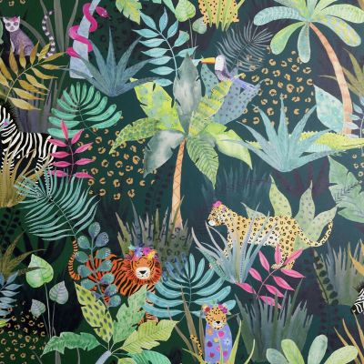 Hidden Jungle Wallpaper Green / Multi Arthouse 907604