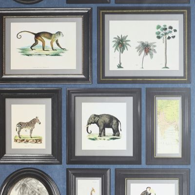 Powder Room Frames Wallpaper Navy Arthouse 908405