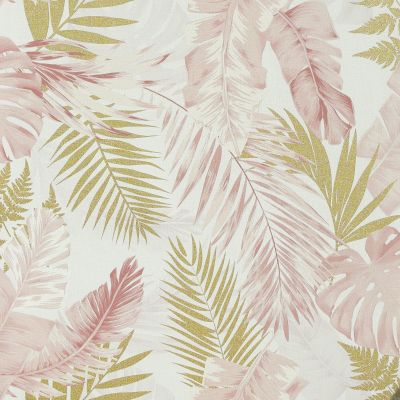 Soft Tropical Palms Wallpaper Blush / Gold Arthouse 297107
