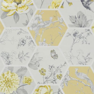 Chinoise Decoupage Wallpaper Ochre Arthouse 908901