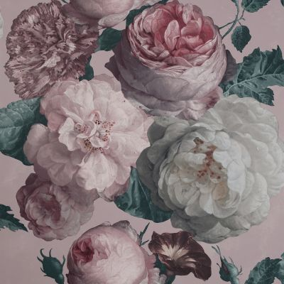 Highgrove Floral Wallpaper Pink Arthouse 909303