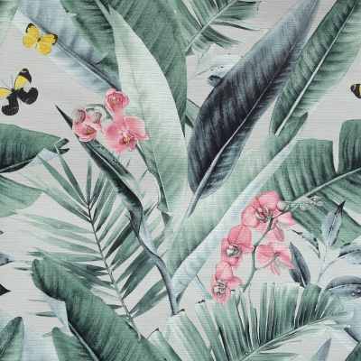 Lush Tropical Wallpaper Grey / Multi Arthouse 909404