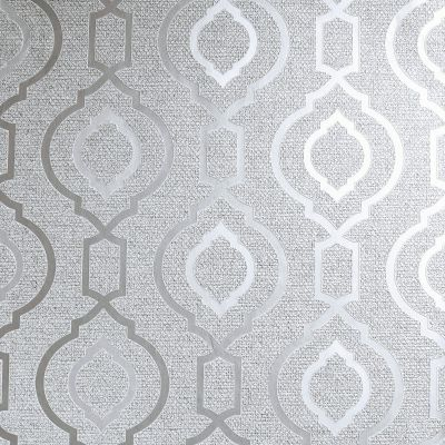 Calico Trellis Texture Wallpaper Grey Arthouse 921400