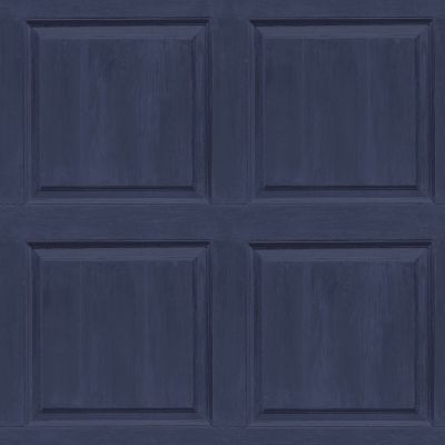 Washed Panel Wallpaper Navy Arthouse 909601