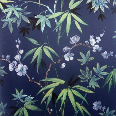 Jasmine Garden Wallpaper Navy Arthouse 297800