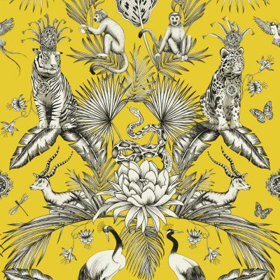 Menagerie Animal Luxe Wallpaper Yellow Belgravia 2001