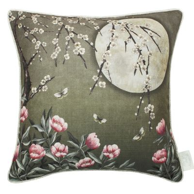 The Chateau by Angel Strawbridge Moonlight Cushion Moss Green