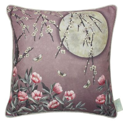 The Chateau by Angel Strawbridge Moonlight Cushion Rose Dawn