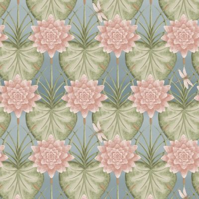 The Chateau by Angel Strawbridge The Lily Garden Wallpaper Eau de Nil LIY/EDN/WP