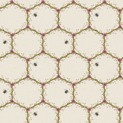 The Chateau by Angel Strawbridge Honeycomb Wallpaper Cream HON/CRE/WP
