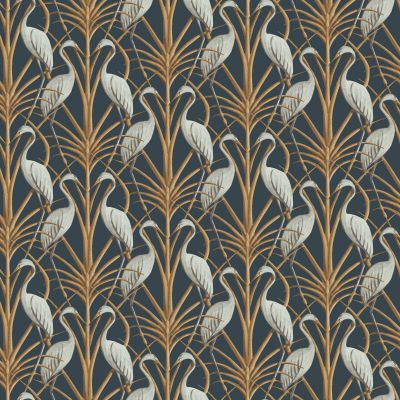 The Chateau by Angel Strawbridge Nouveau Heron Wallpaper Navy NOH/NAV/WP