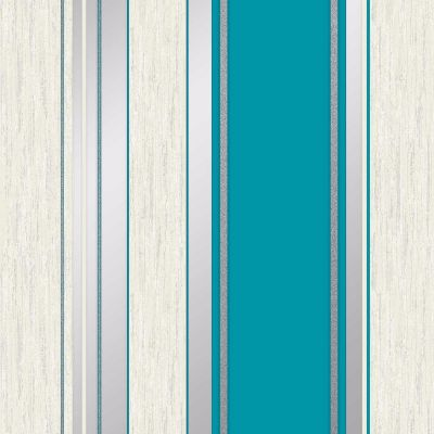 Synergy Stripe Wallpaper Teal Vymura M0801