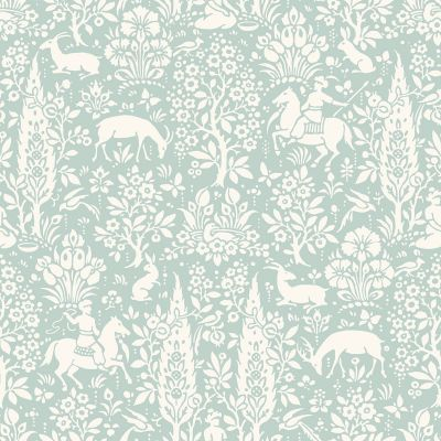 Crown Archives Woodland Wallpaper Duck Egg M1166