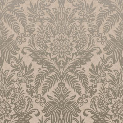 Crown Signature Damask Wallpaper Biscuit M1066