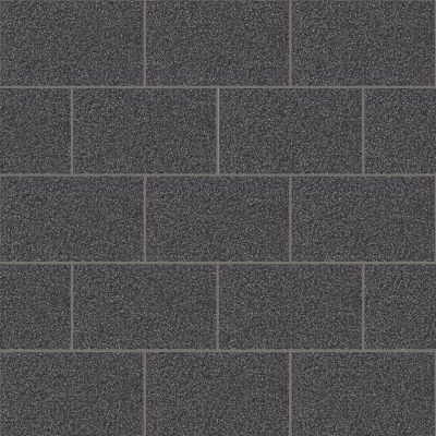 Crown London Tile Glitter Wallpaper Black M1055