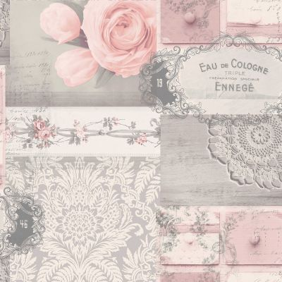 Crown Ophelia Decoupage Wallpaper Sorbet M1425