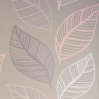 Crown Emporium Elba Leaf Wallpaper Blush / Taupe M1462