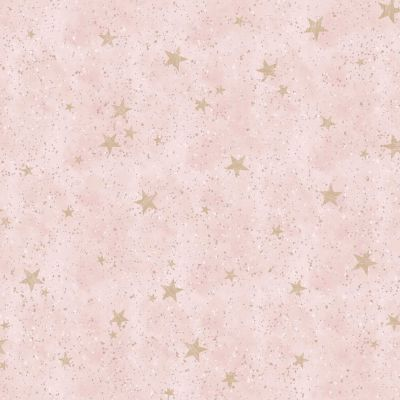 Starlight Stars Wallpaper Grey / Rose Gold Crown M1491