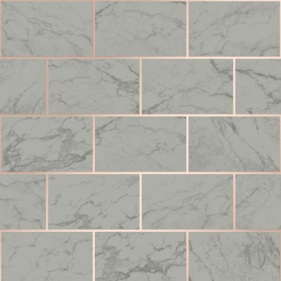 Metro Brick Marble Wallpaper Charcoal Crown M1511