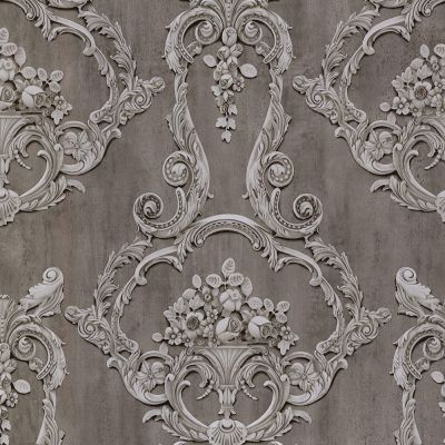 Sofia Damask Wallpaper Silver Debona 2456