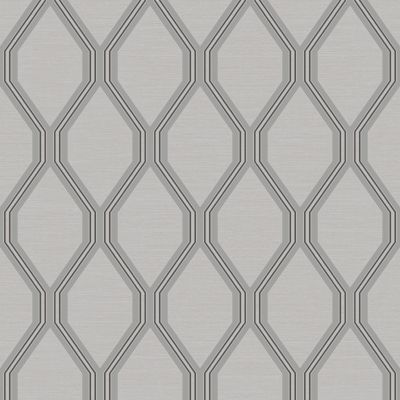 Ariana Geometric Wallpaper Grey / Silver Debona 2490