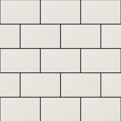 Subway Gloss Tile Wallpaper White Debona 2676
