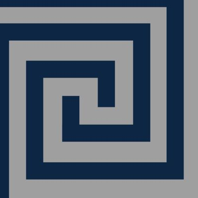 Athena Geometric Wallpaper Navy / Silver Debona 4009