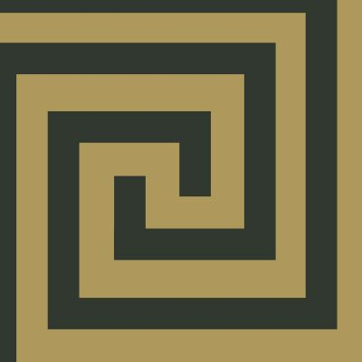 Athena Geometric Wallpaper Black / Gold Debona 4014