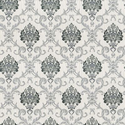 Duplex Damask Wallpaper Grey / Silver Debona 5022