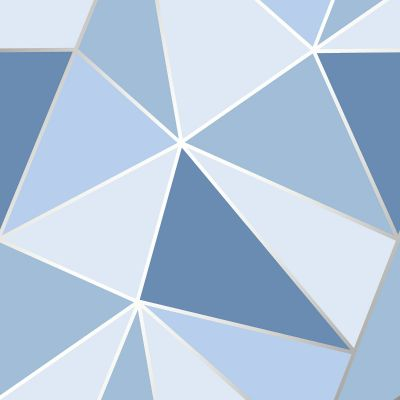 Apex Geometric Wallpaper Blue Fine Decor FD41992