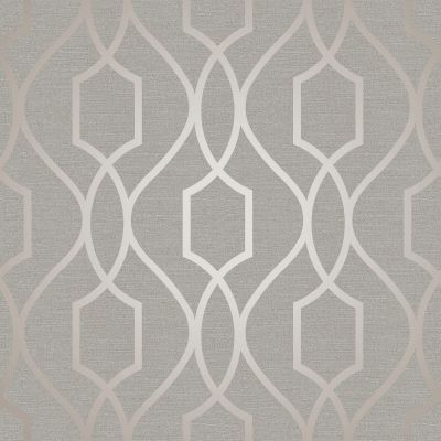 Apex Geometric Trellis Wallpaper Grey and Taupe Fine Decor FD41997