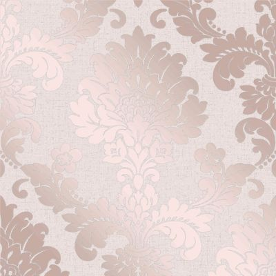 Quartz Damask Wallpaper Rose Gold Fine Decor FD42204
