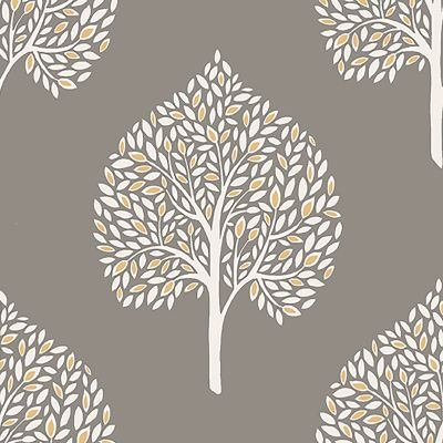 Annabelle Tree Wallpaper Grey Fine Decor FD41929