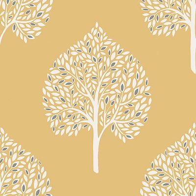 Annabelle Tree Wallpaper Yellow Fine Decor FD41930