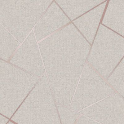 Quartz Fractal Wallpaper Cream and Gold Fine Decor FD42281