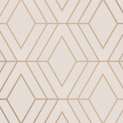 Pulse Diamond Wallpaper Cream / Gold Fine Decor FD42344
