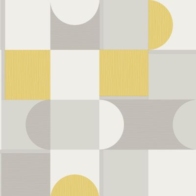 Marino Oslo Geometric Wallpaper Mustard Fine Decor FD42388