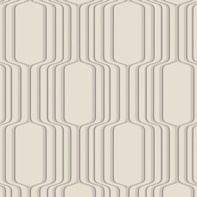 Geometric Ogee Wallpaper Cream Fine Decor DL31214