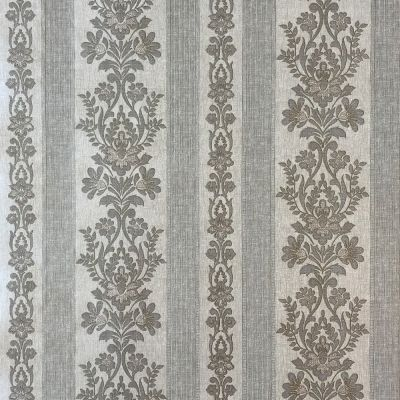 Simply Satin Damask Stripe Wallpaper Taupe Fine Decor FD65022UP
