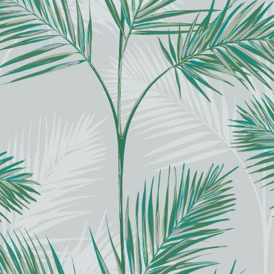 South Beach Palm Leaf Wallpaper Stone Fine Decor FD42678
