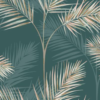Emerald Green Palm Leaf Wallpaper Fine Decor FD42679