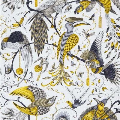 Emma J Shipley Animalia Audubon Wallpaper Gold W0099/02
