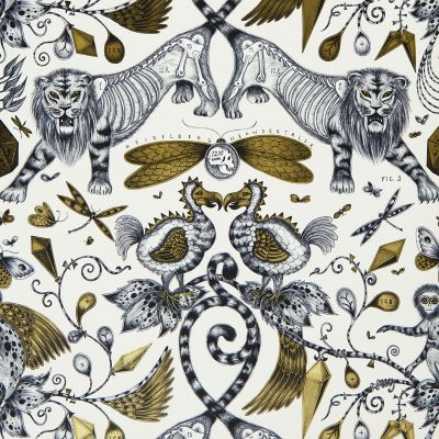 Emma J Shipley Animalia Extinct Wallpaper Gold W0100/02