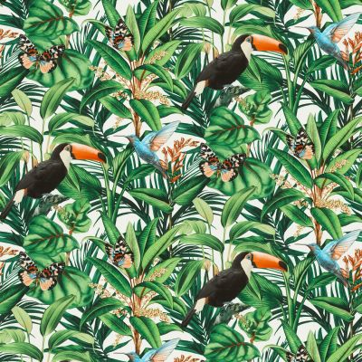 Paradisio 2 Jungle Birds Wallpaper White Erismann 10121-07