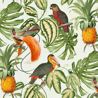 Paradisio Tropical Birds Wallpaper White Erismann 6302-07
