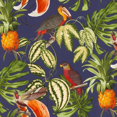Paradisio Tropical Birds Wallpaper Navy Erismann 6302-08