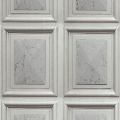 Imitations Marble Wood Panel Effect Wallpaper Grey Erismann 6319-10
