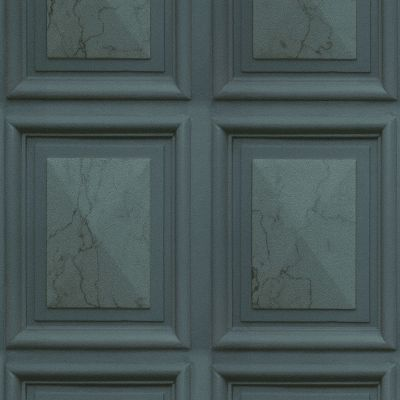 Imitations Marble Wood Panel Effect Wallpaper Teal Erismann 6319-18