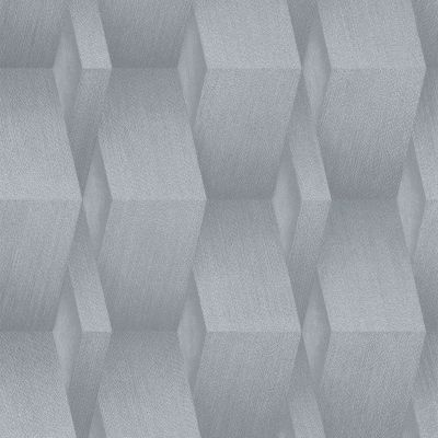 3D Effect Geometric Wallpaper Grey Erismann 10046-10