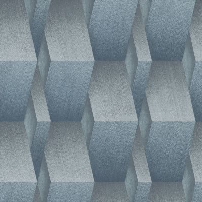 3D Effect Geometric Wallpaper Blue Erismann 10046-08